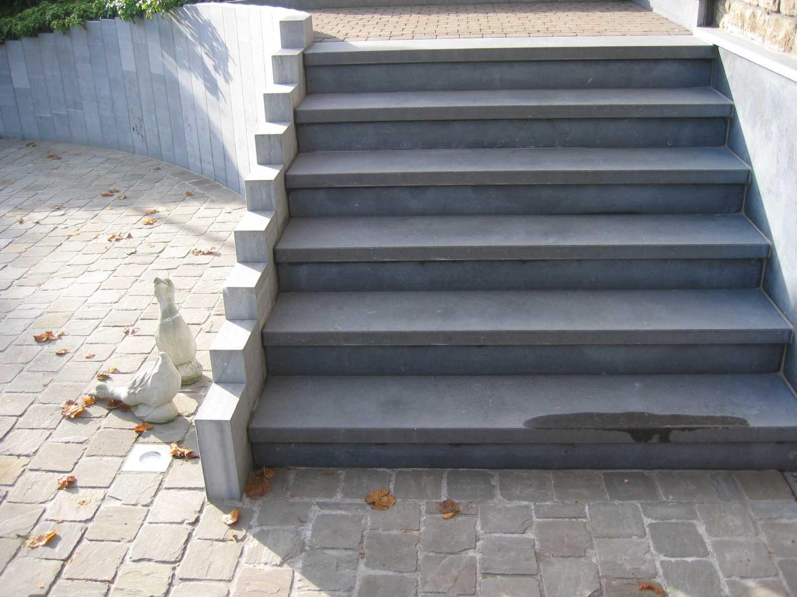 Blauwe steen haelwaeters - Binnen trap ...